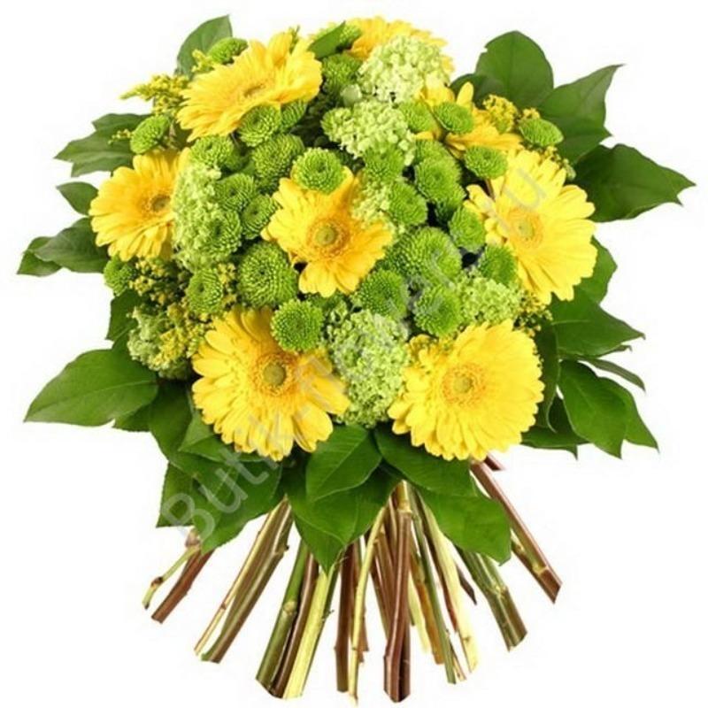 Для свадебного, букеты из хризантем до 1600