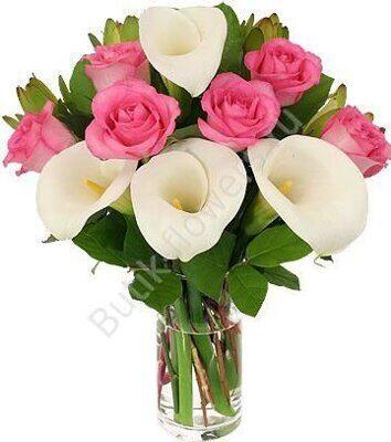 Где заказать букет из калл белых роз купить цветы